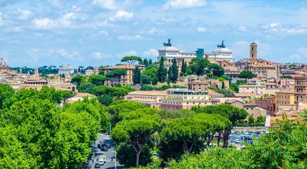 hills in rome