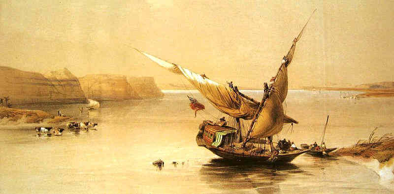 Sailing boats were first invented in Egypt.