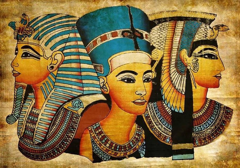 The Pharaohs kept their hair covered