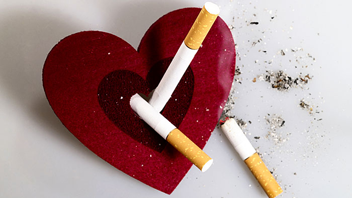 Smoking affects the heart and blood vessels which lead to heart attack