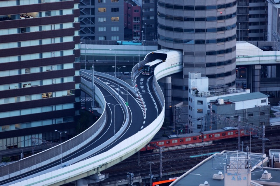 There is a highway in Japan that goes through the building