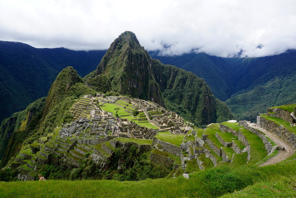 Machu Picchu is located on a very steep mountain