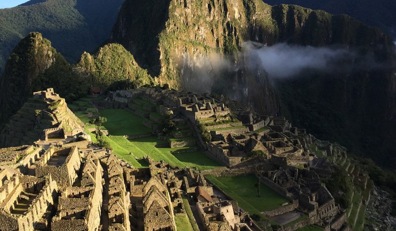 Machu Picchu is warm & humid during the day and cool during the night.