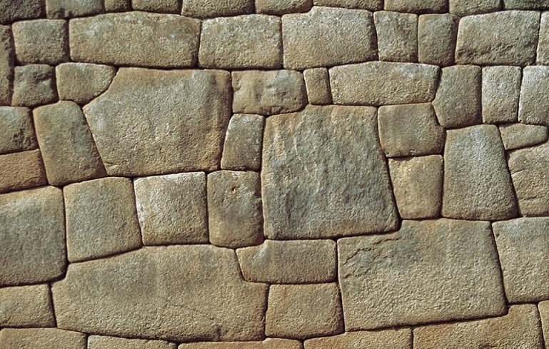 Machu Picchu was constructed with polished stone wall