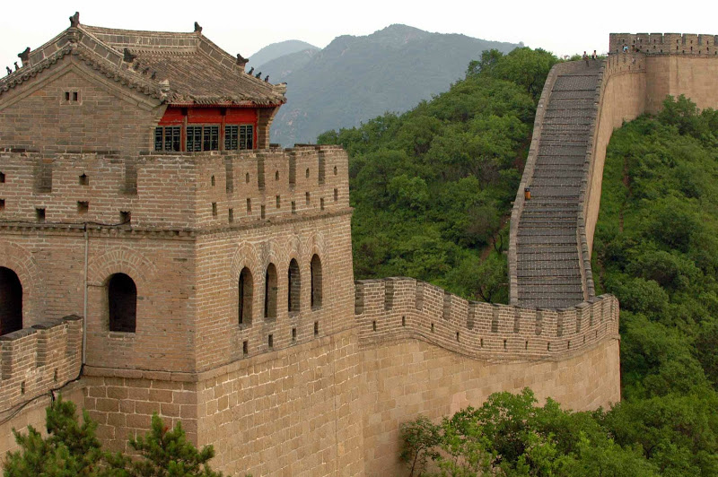 Numerous temples were built along the Great Wall of China for the worship of the war god, Guandi
