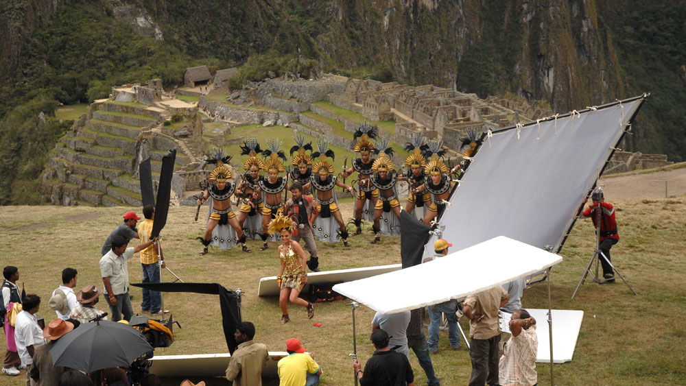 The most costly Bollywood film, Endhiran was shot on location at Macchu Picchu