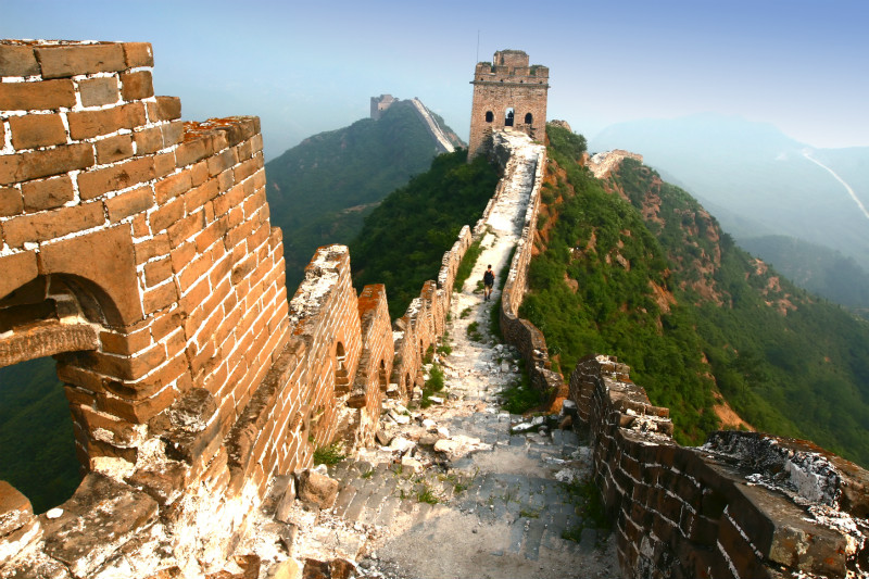 The most dangerous section of the wall is the Jiankou section.