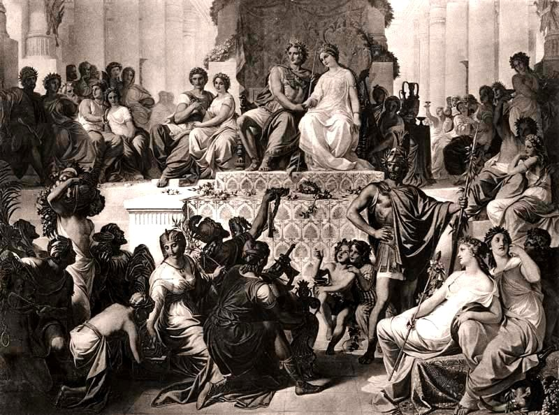 Alexander the Great married three times with Roxana, princesses Stateira II and Parysatis II for political reasons.