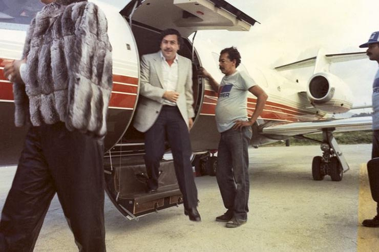 Escobar pays pilots around $500,000 per day to transport the cocaine
