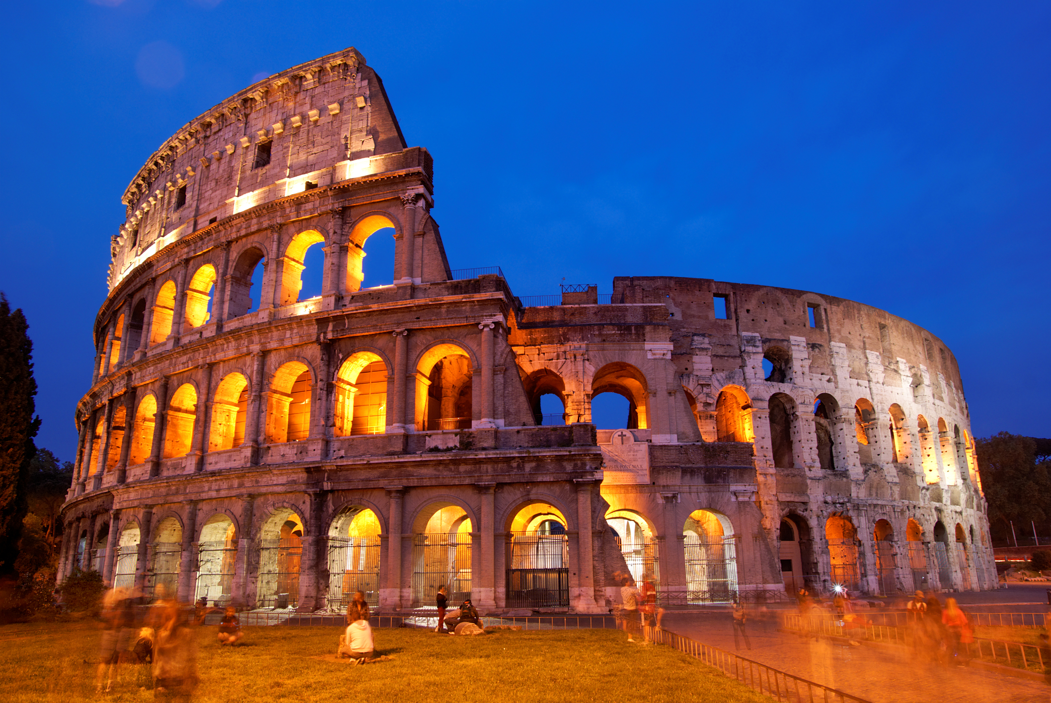 In 847, a massive earthquake destroys the southern side of the Colosseum.