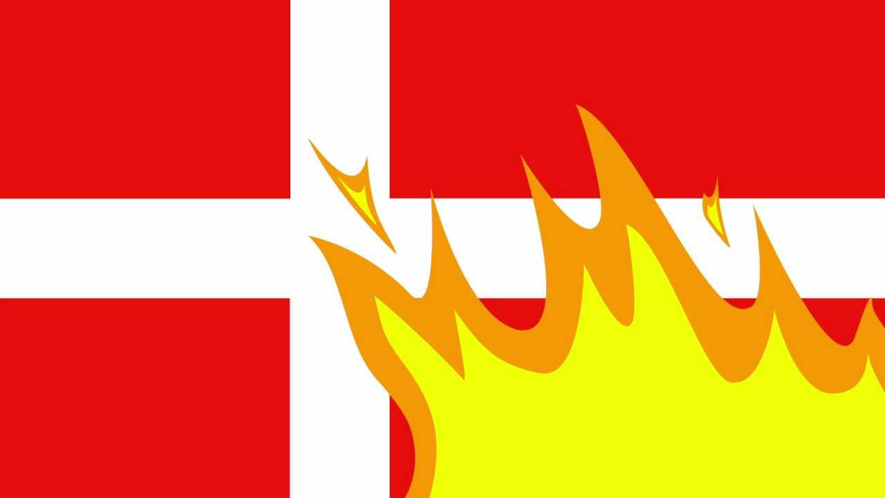 It is prohibited to burn foreign flags in Denmark, but not illegal to burn the Danish flag.