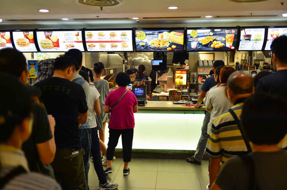 The top ten busiest McDonald's restaurants are all in Hong Kong.
