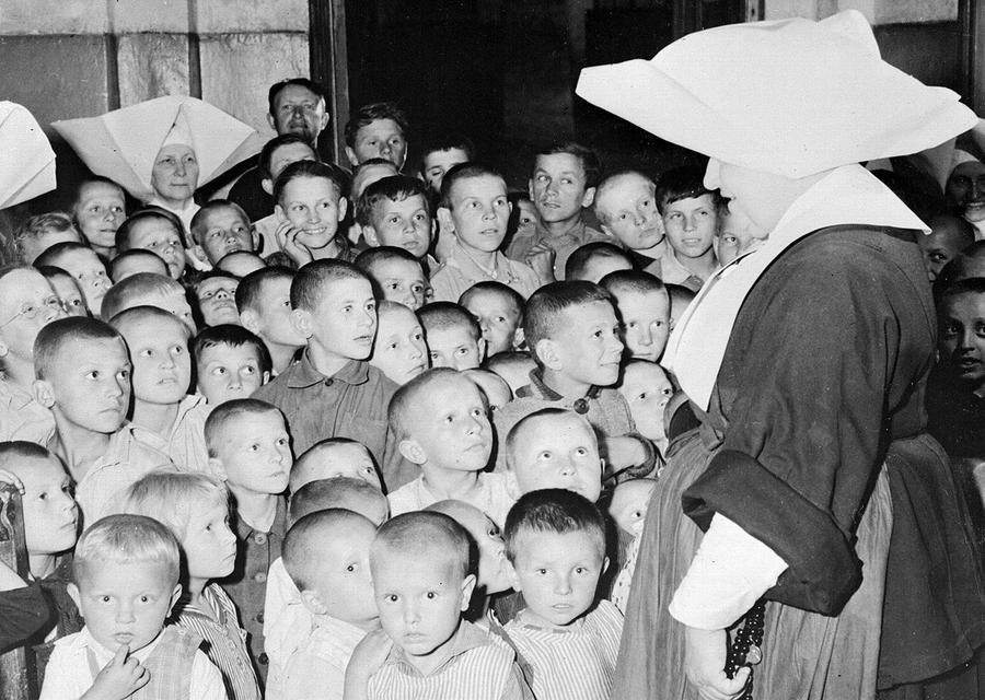 During WWII, polish children were forcibly put up for adoption.