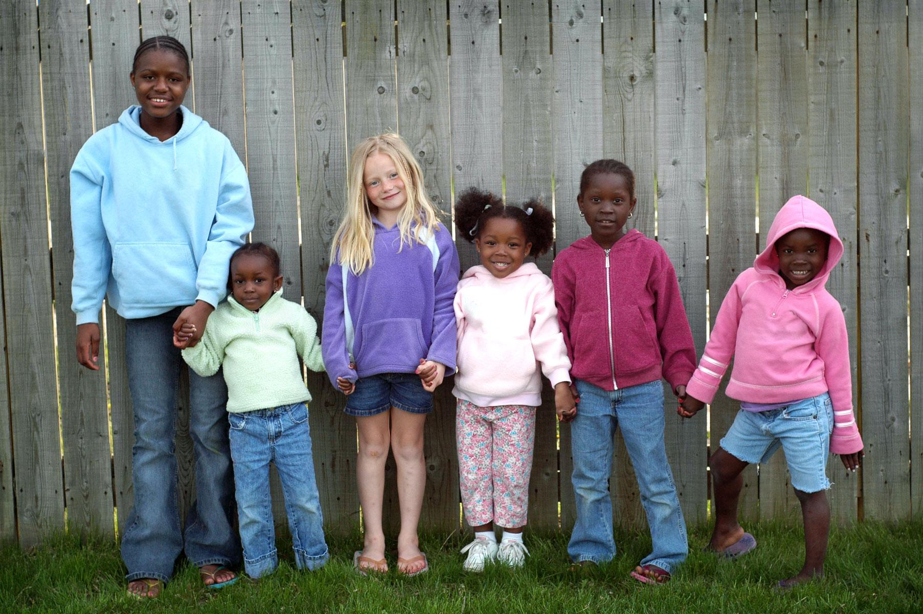 In foster care, more than 60% of offspring spend 2 to 5 years in the coordination before being adopted.