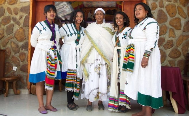 The Ethiopia traditional costume are Gabbi or Netella which is made of woven cloth.
