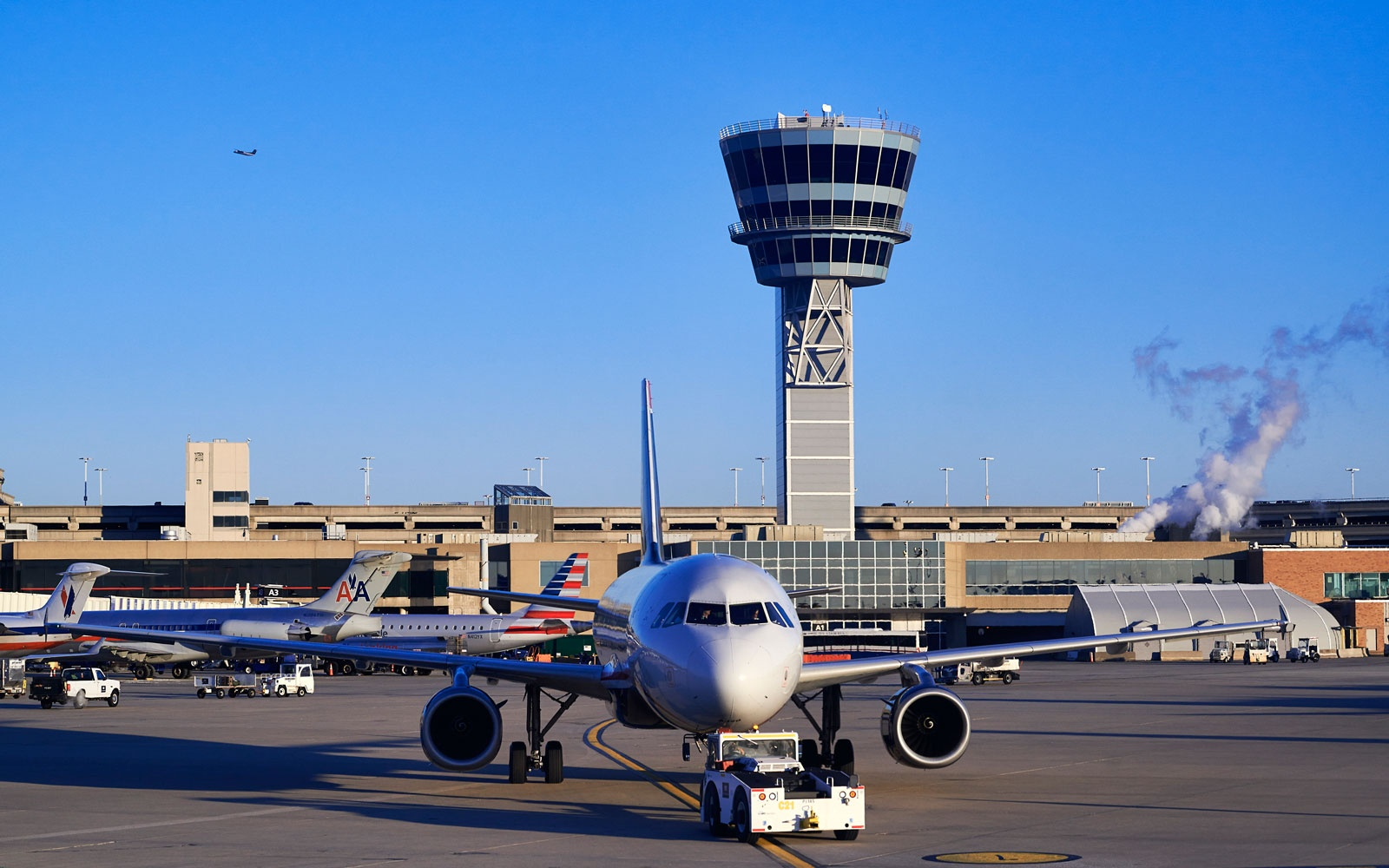 TheJomo Kenyatta International Airport is the biggest airport in Kenya.