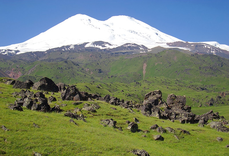 Elbrus is the highest point in Russia.