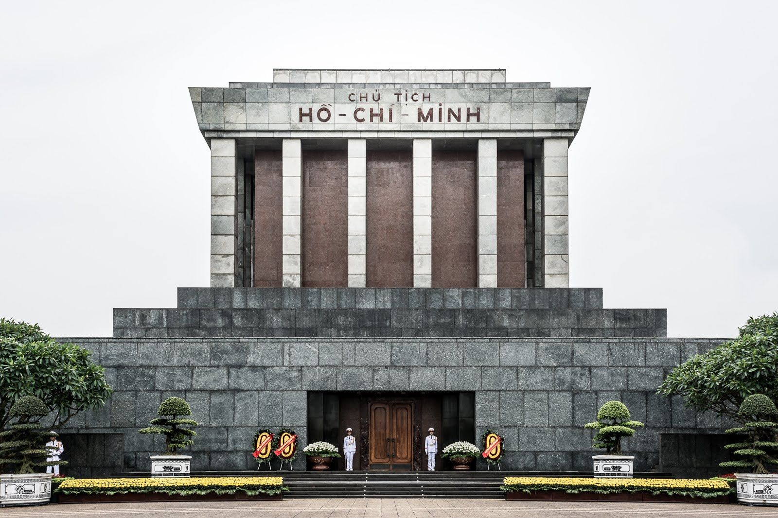 The mummy of their first president Ho Chi Minh was embalmed & display in a mausoleum.