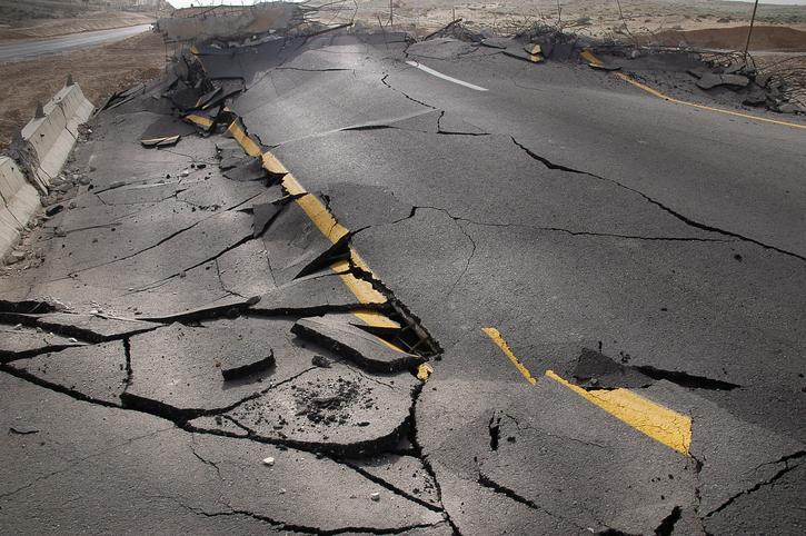 The European settlers experienced their first earthquake in 1663.