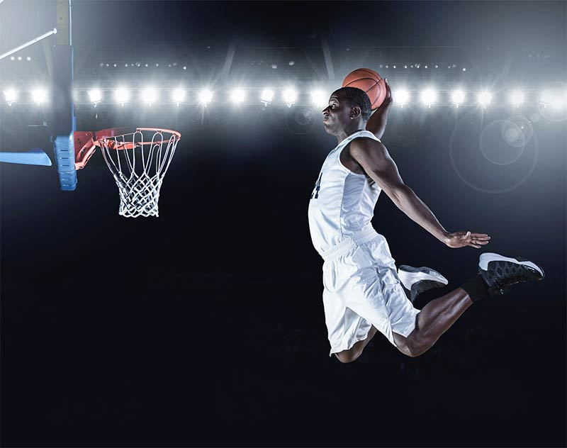 Slam dunks were illegal for almost nine years.