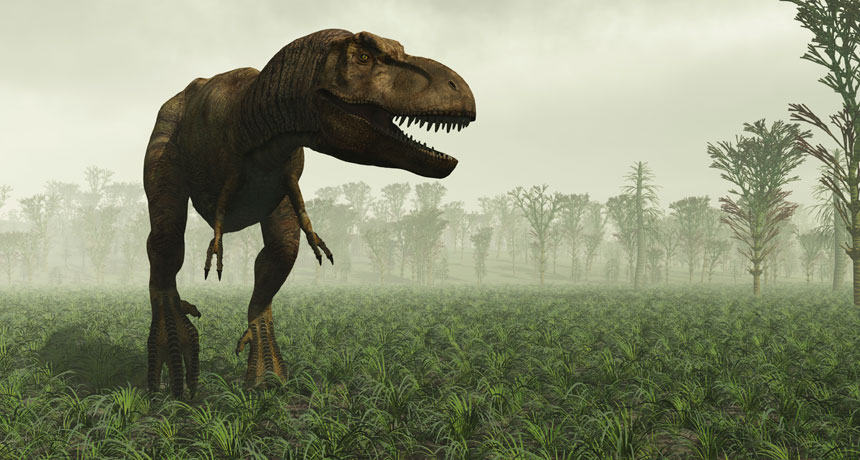 The first dinosaur was named in 1824.