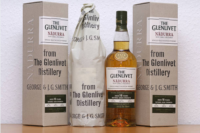 Famous brands of Whiskey are: The Glenlivet, Glenfiddich, Glen Grant and The Macallan.