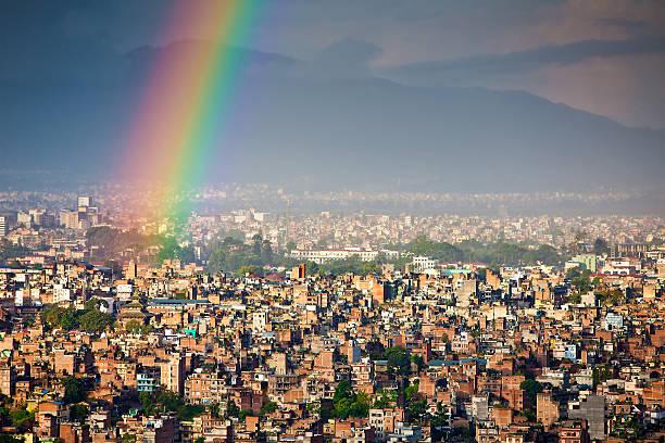 Scientist Isaac Newton explained how a rainbow occurs.
