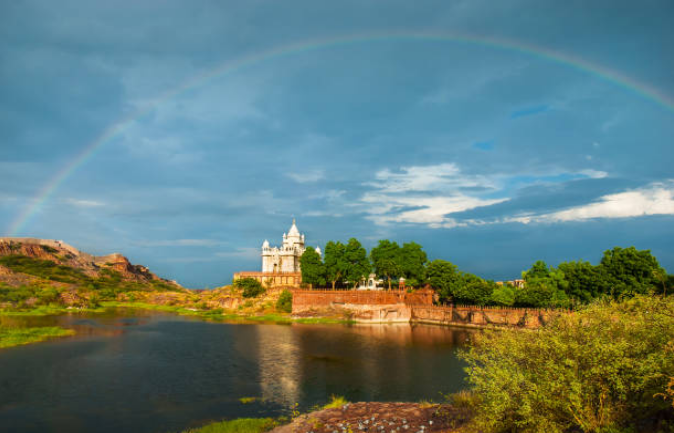 The primary rainbow usually appears after a Rainstorm.