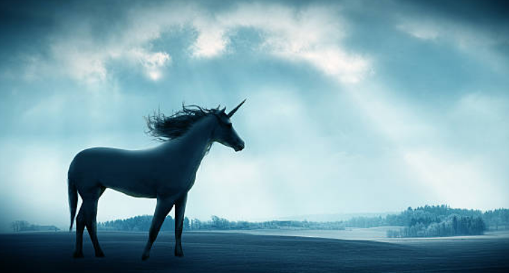 Unicorns are mentioned in the folklores of the medieval period.
