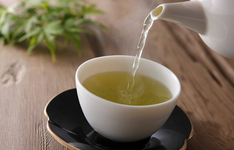 Green tea with mint and sweetened with sugar is a popular beverage in Morocco.