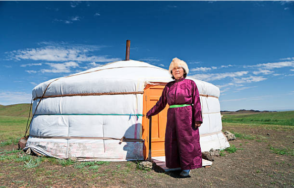 The Mongolian traditional costume is called the Deel.