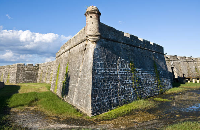 The drawbridge was invented late in the Medieval-castle era.