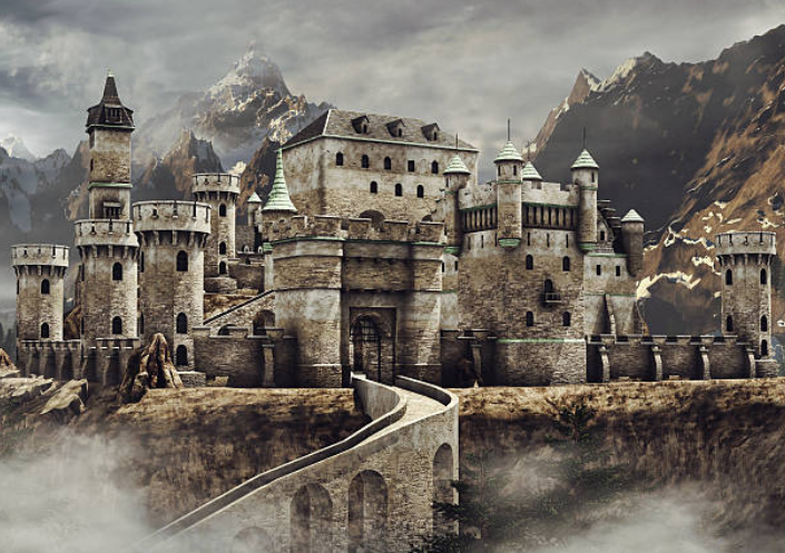 The first castles in England were built by the Normans.
