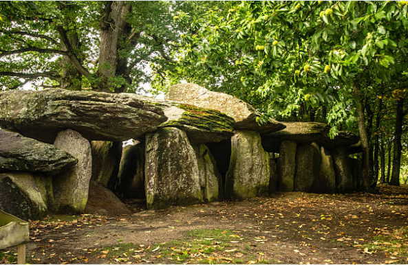Dolmen, an ancient rock tombstone played a very important role in the theory of the Vampire.