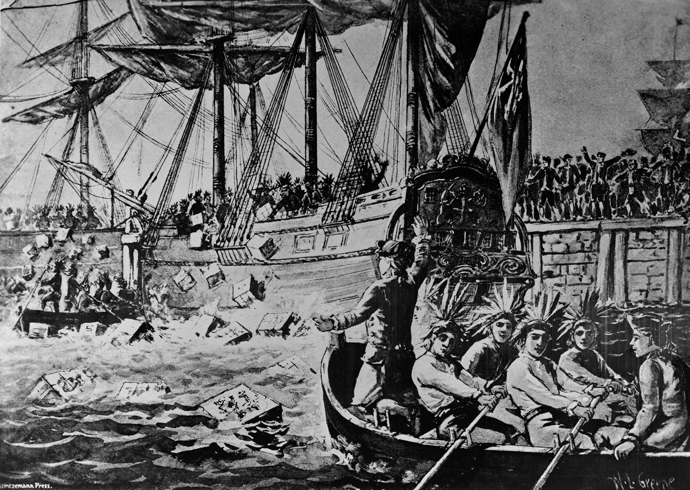 Only ships owned by the East India Company could carry tea.