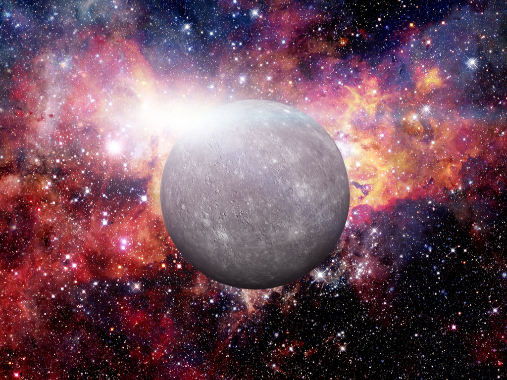 Mercury's magnetic field is just 1% of that of the Earth.