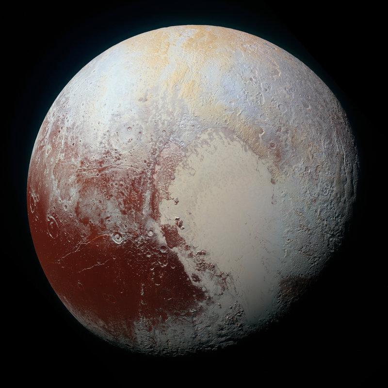 Pluto has a heart shape on its surface.