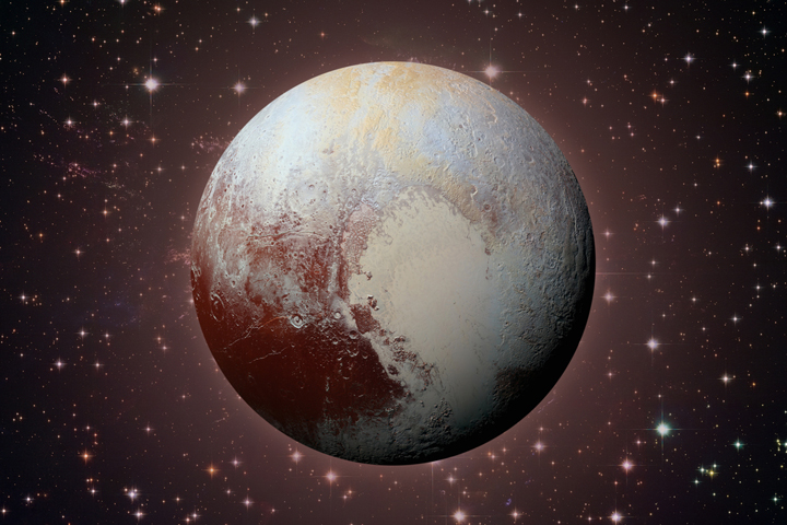 Pluto is 33% water in the form of ice and 67% rock.