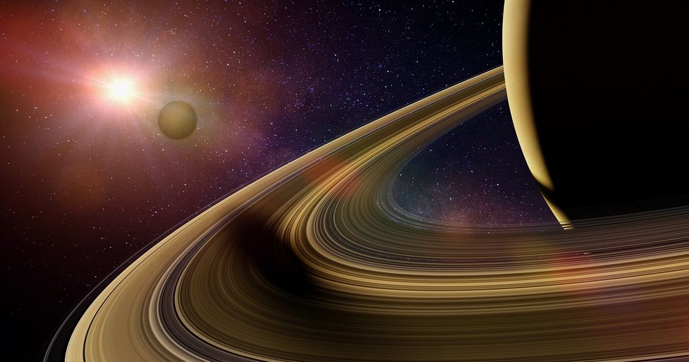 The magnetic field of Saturn extends by 621,371 miles.