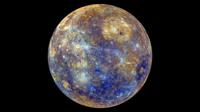 The surface temperature of Mercury is minus 173 to 427 °C.