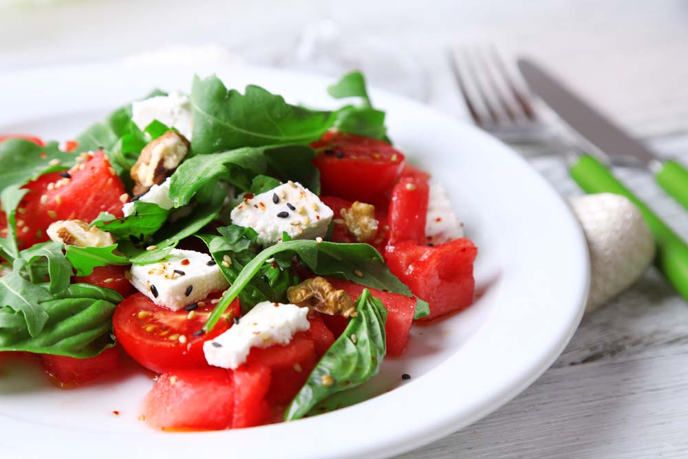 In Isreal and Egypt, it is common for watermelon to be served with feta cheese.