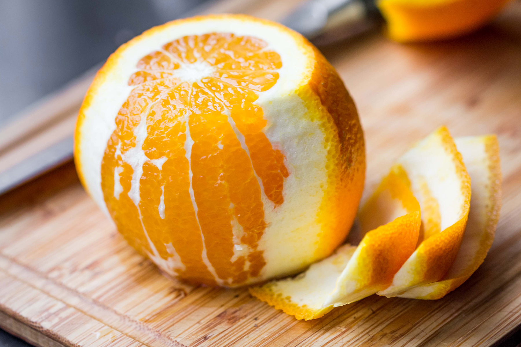 Orange peel contains chemicals which repel pests such as slugs.