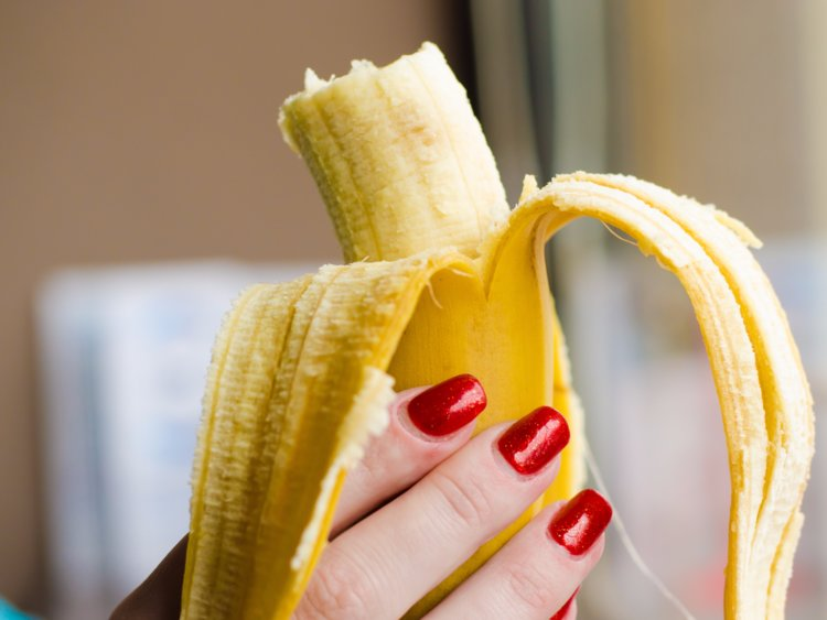Research shows that eating bananas may lower the risk of heart attacks and strokes.