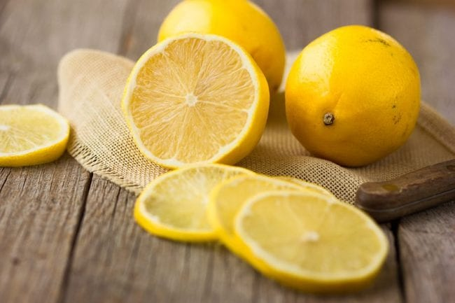The lemon is the only food in the world that is anionic.