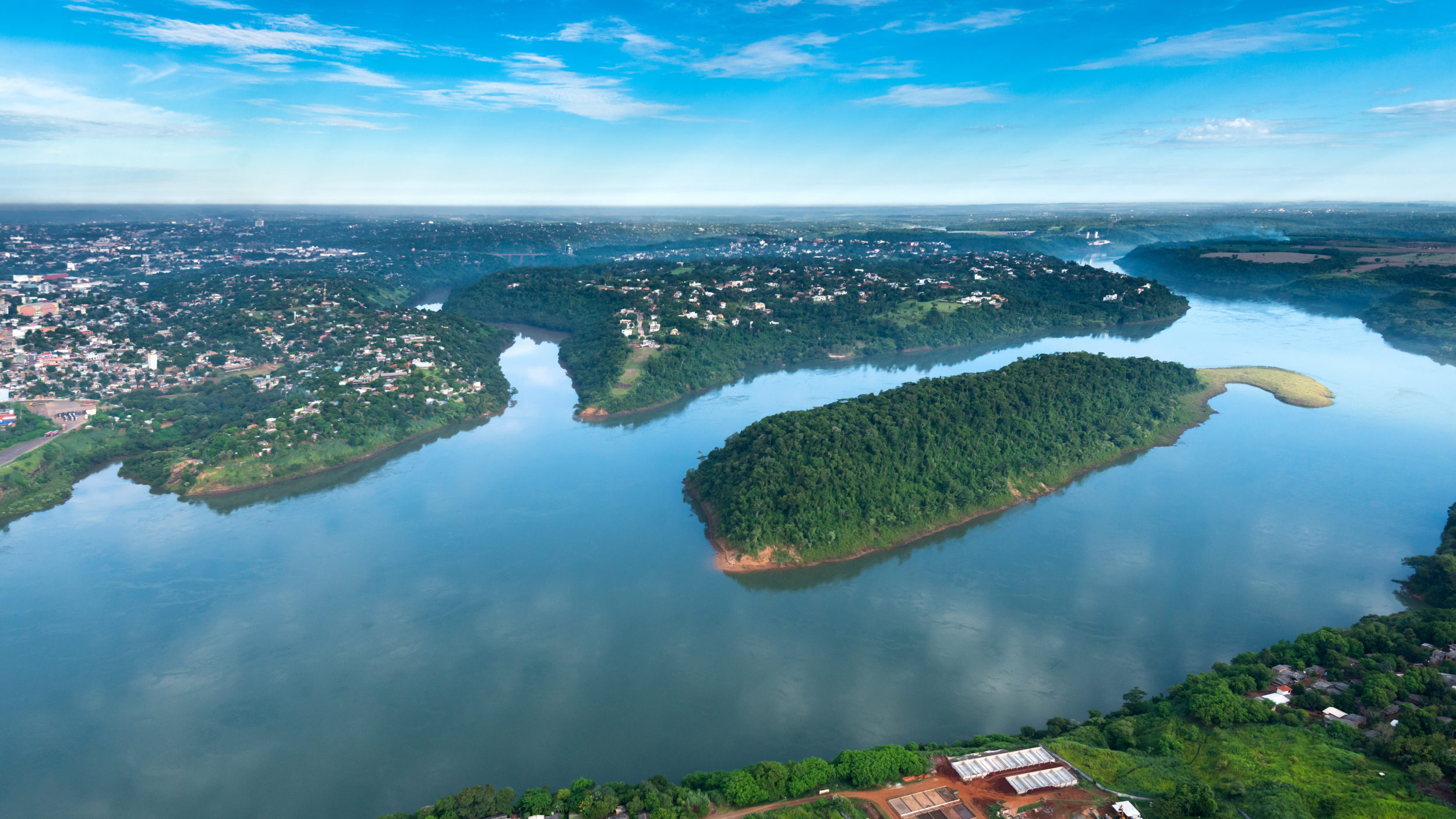 The Paraguay River divides Paraguay into two halves.