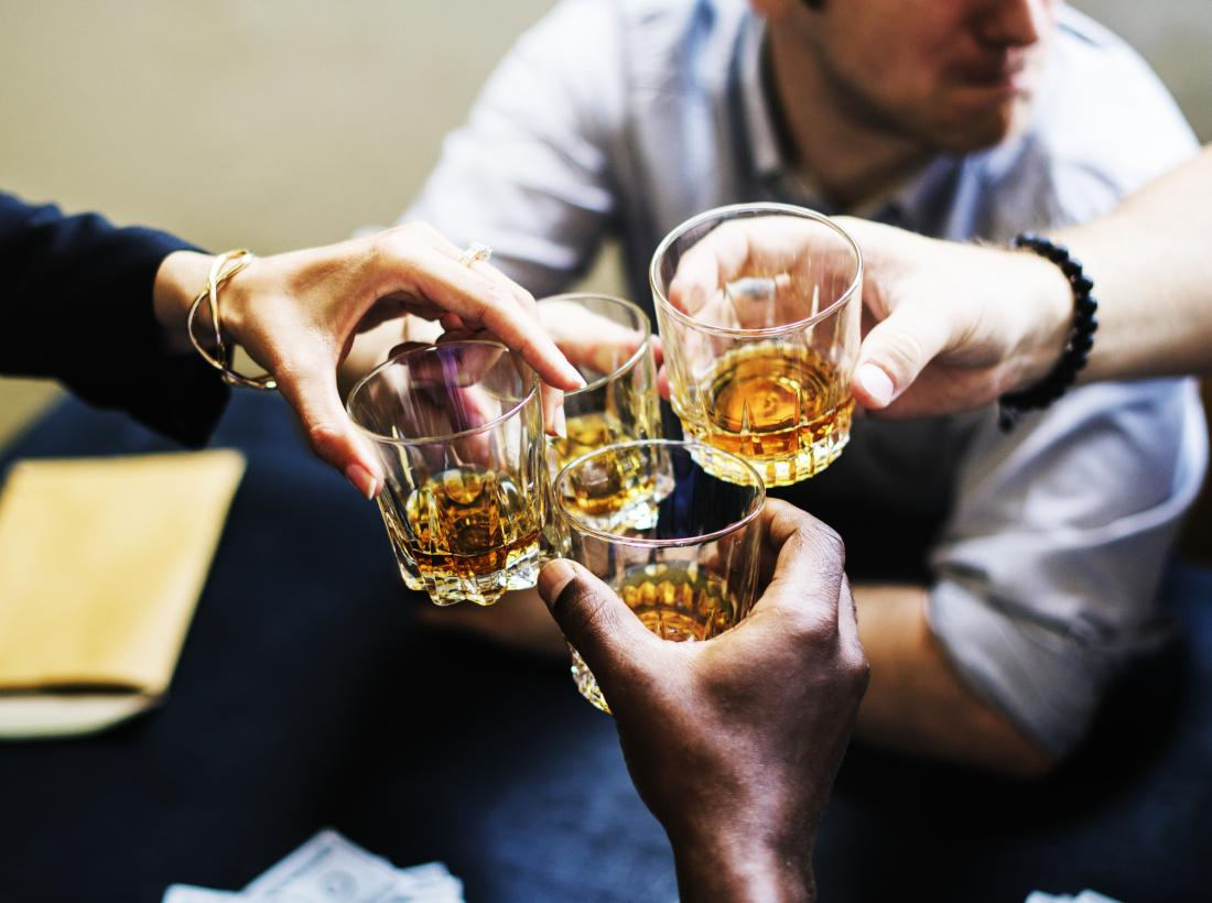 The average alcohol consumption